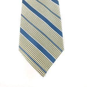 346 Brooks Brothers men's silk tie in green & blue